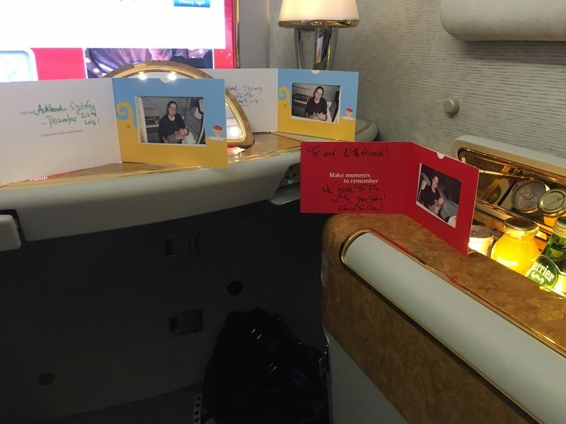 Emirates A380 First Class Suite Auckland to Sydney