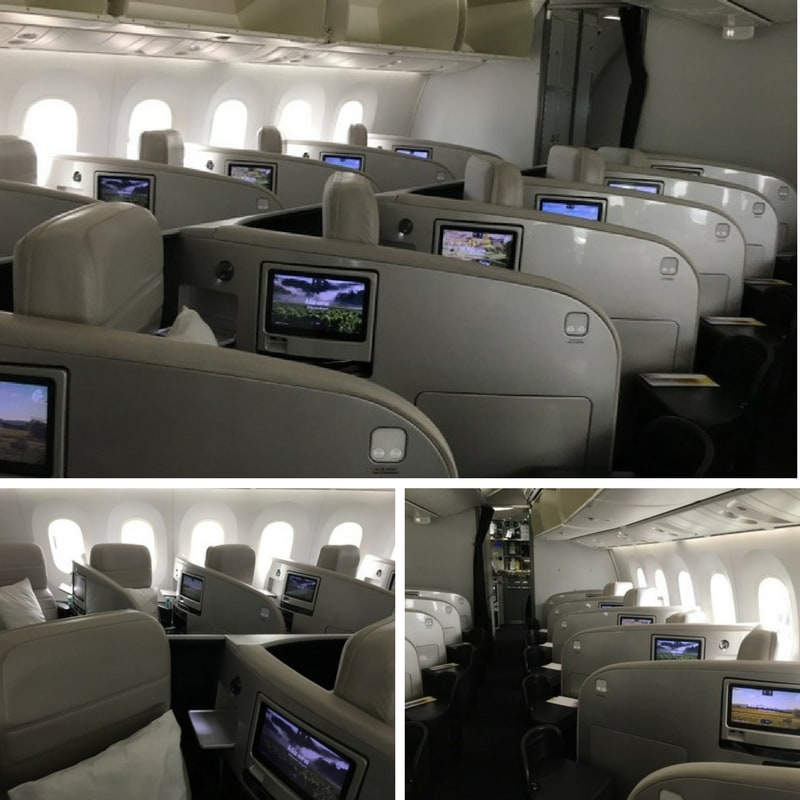 Air New Zealand Dreamliner Business Premier cabin montage