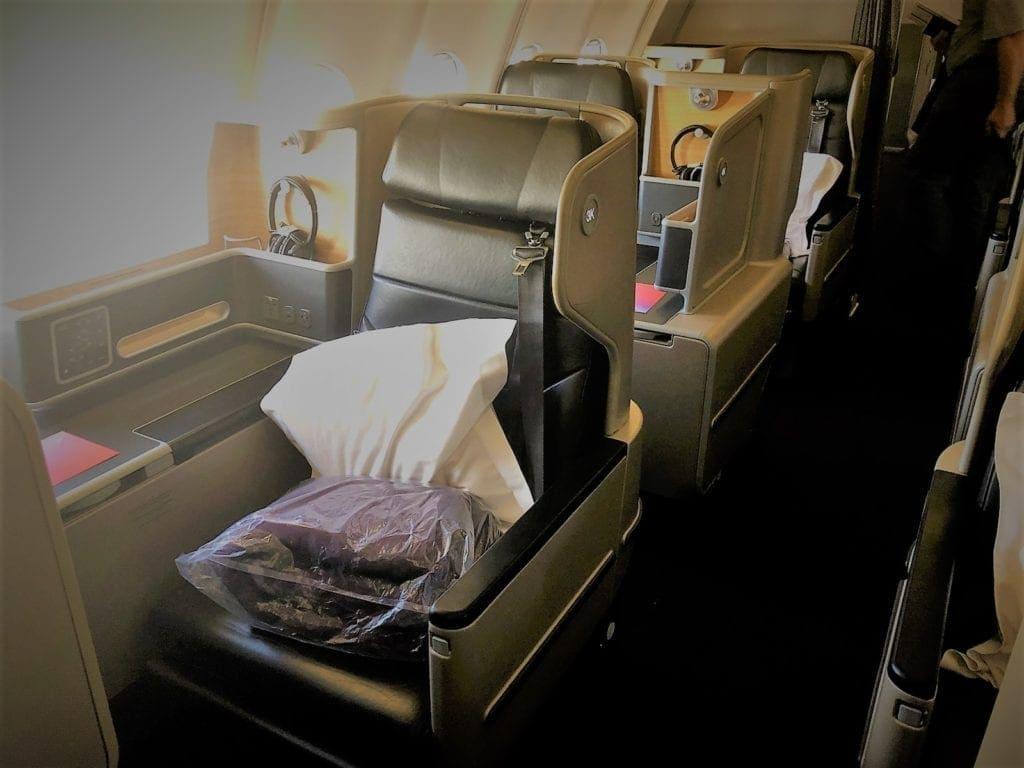Qantas A330 Business Class Aisle Seat Thomson Aero