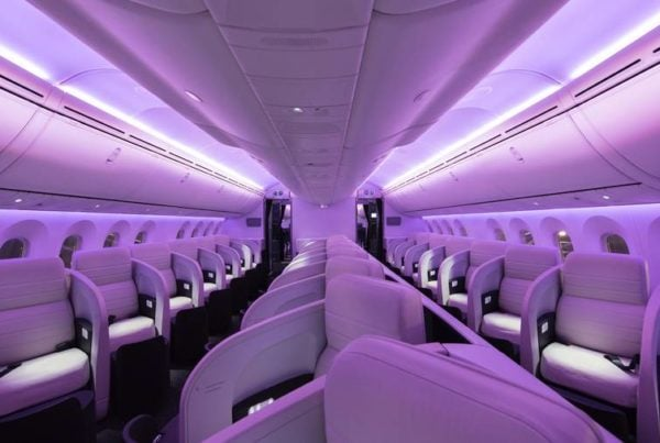 Air New Zealand Dreamliner business cabin 787