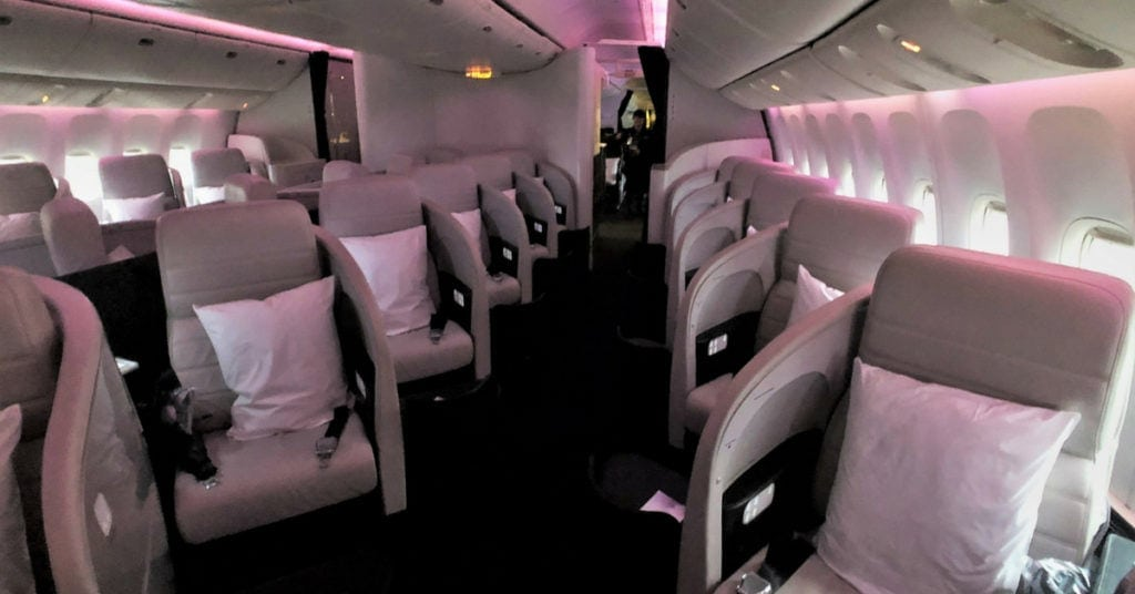 air new zealand business class cabin 1