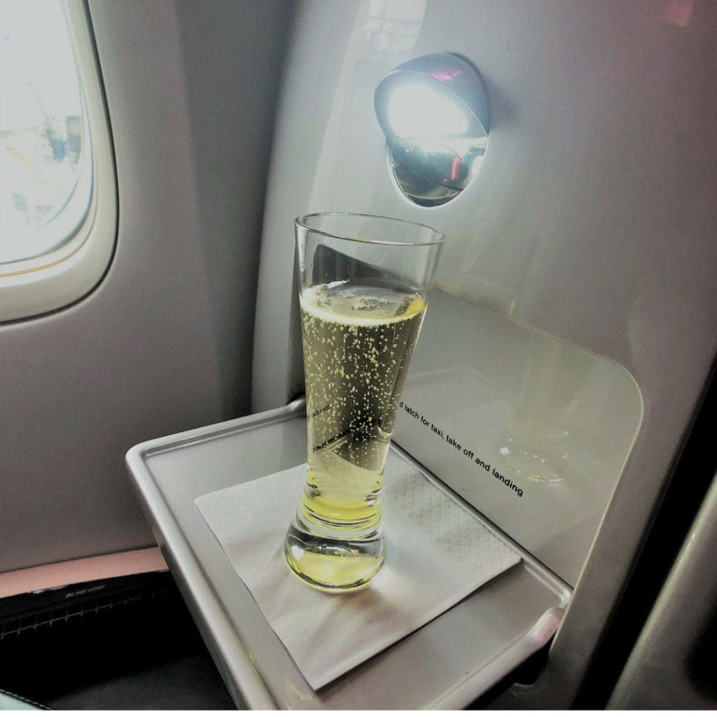 air new zealand business class champagne