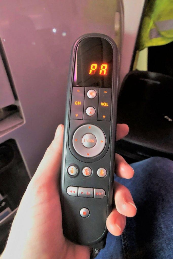 air new zealand business class entertainment control
