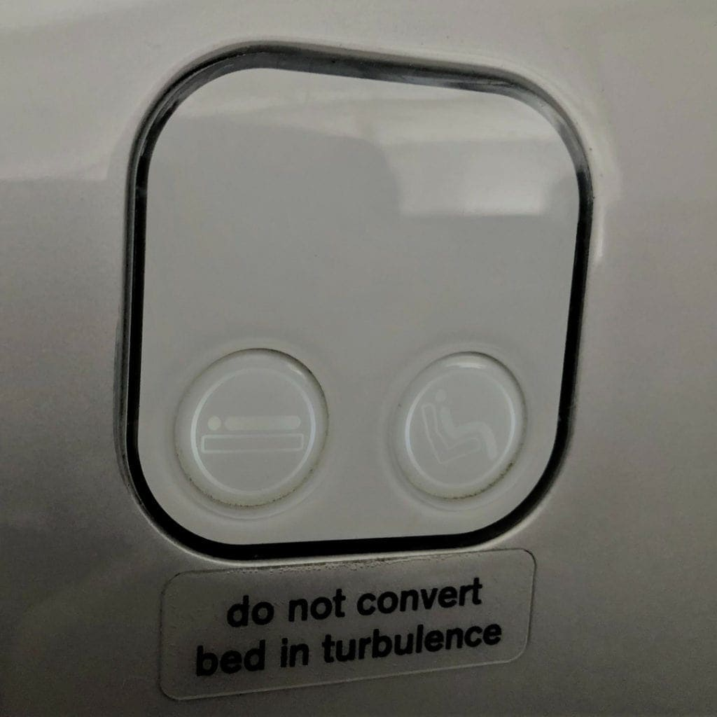 air new zealand business class seat controls