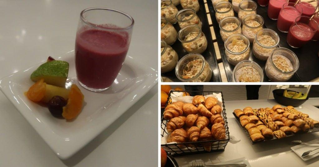 Air New Zealand Lounge breakfast