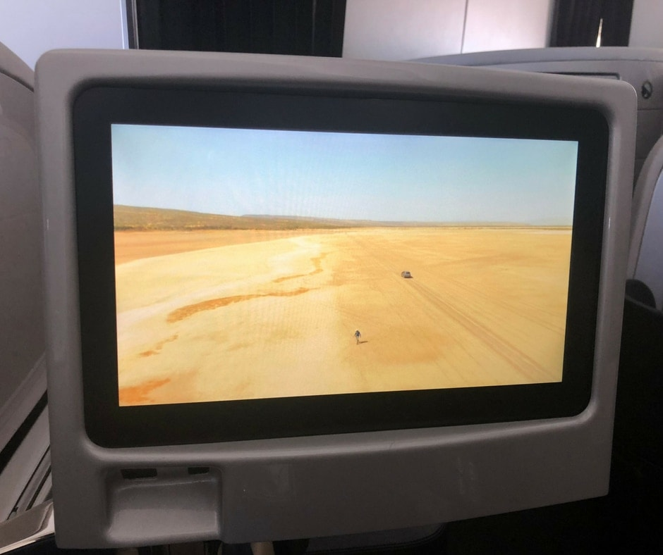 air nz business class entertainment screen