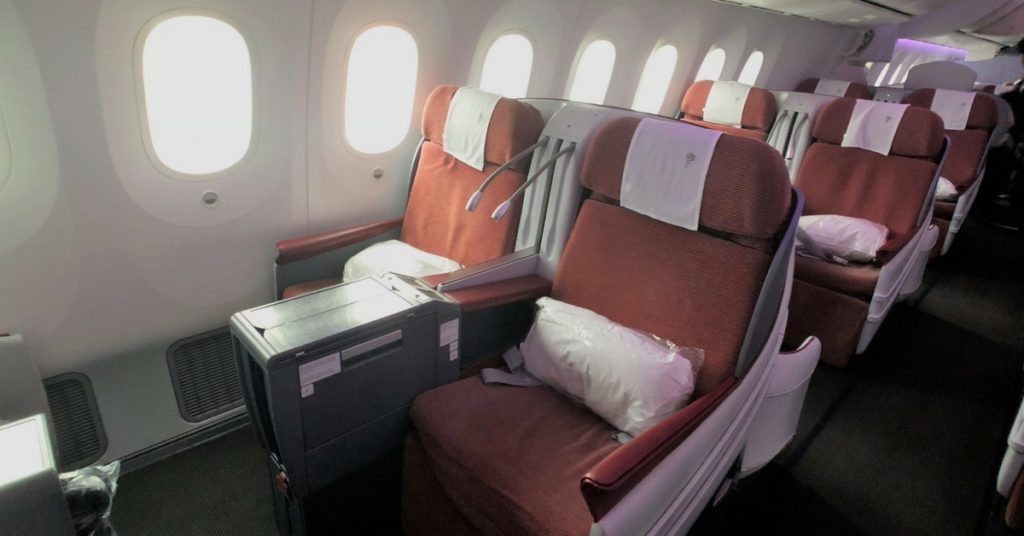 Latam business class cabin windows