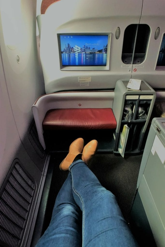 LATAM BUSINESS CLASS SEAT LEG ROOM