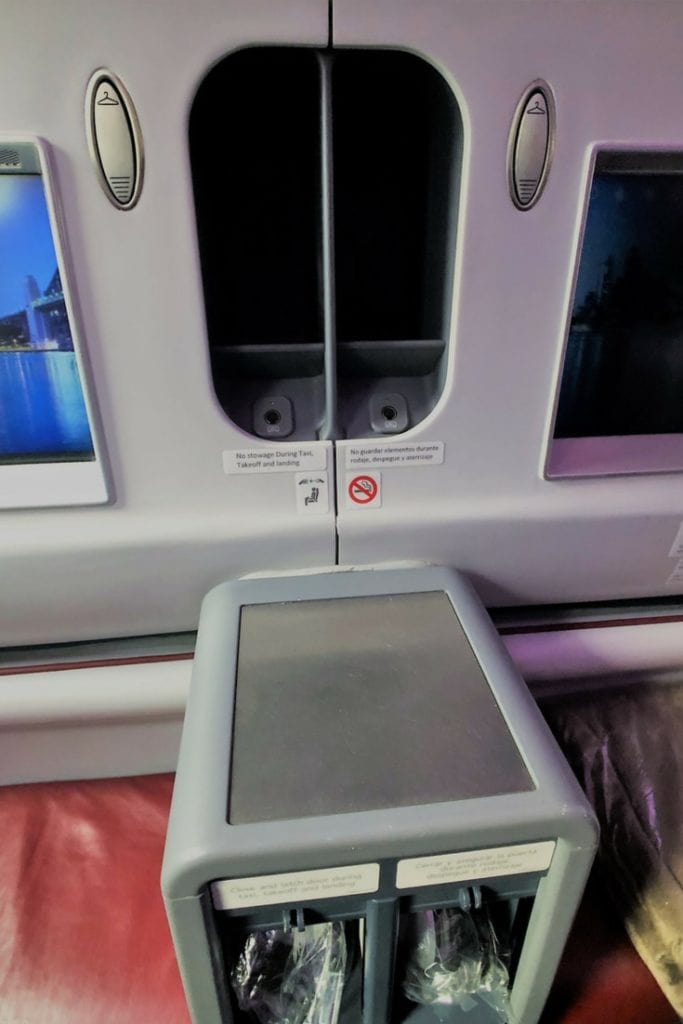 LATAM BUSINESS CLASS SEAT STORAGE TWO