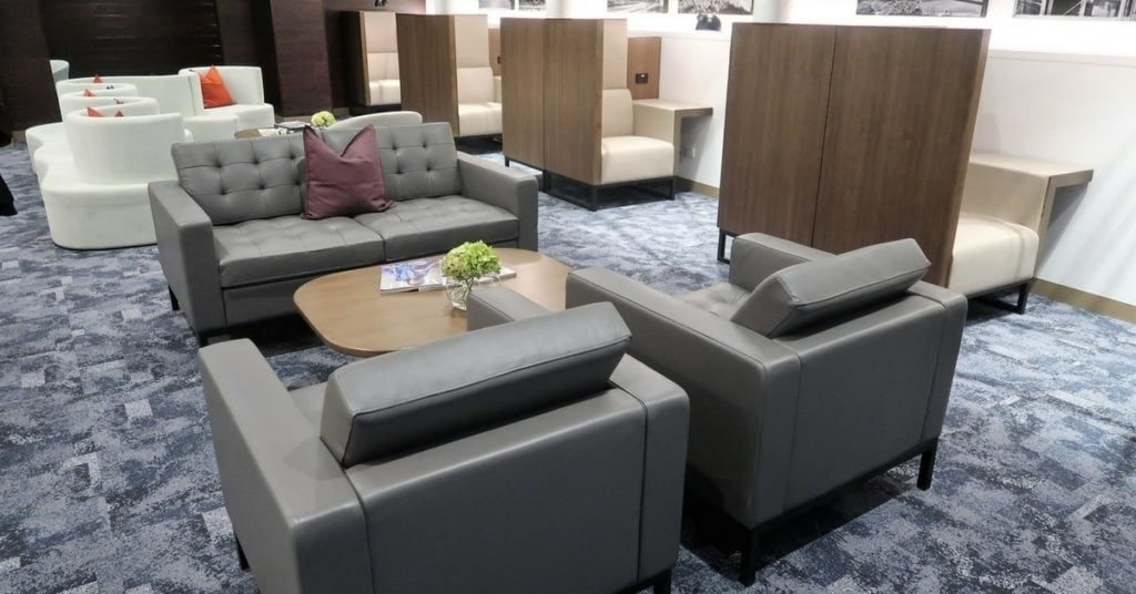 AMEX lounge open Melbourne seating