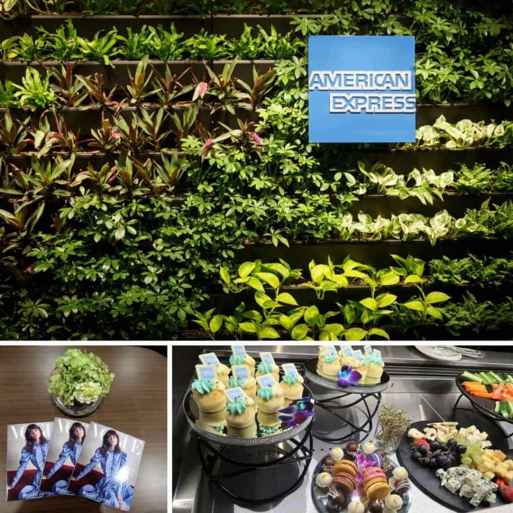 AMEX lounge open Melbourne montage
