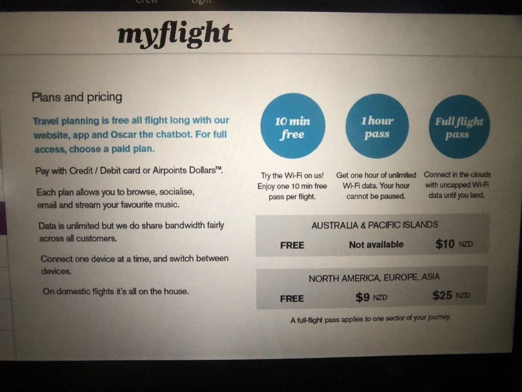 Air New Zealand pricing plans 1024