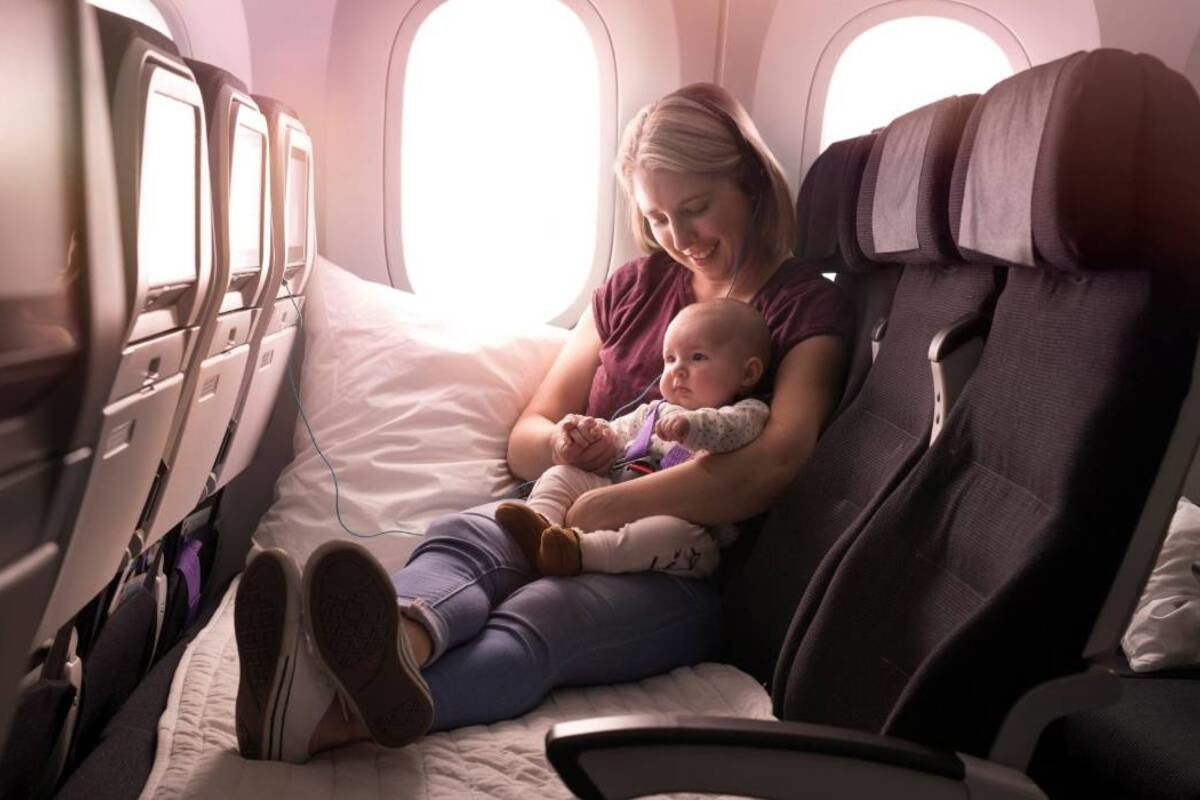 air new zealand skycouch adult infant