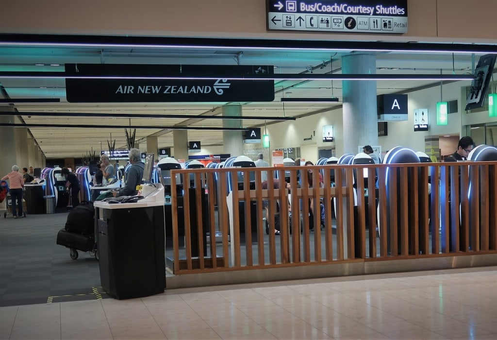 air new zealand economy review check-in christchurch airport