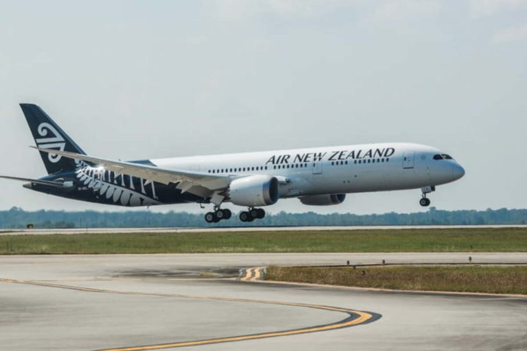 air new zealand dreamliner landing