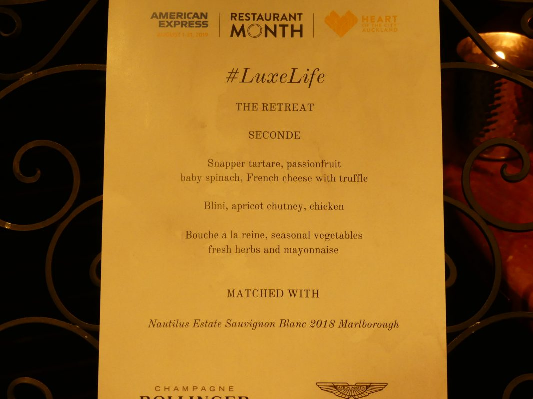 LuxeLife American Express Restaurant Month