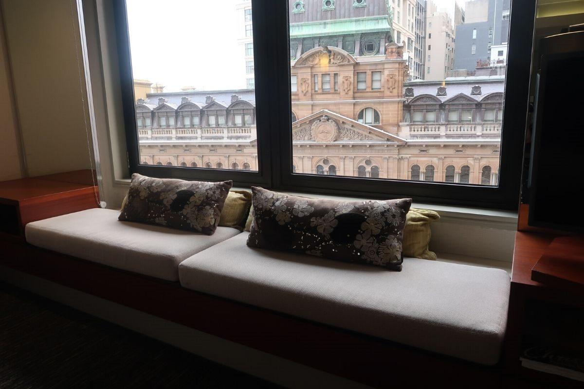 IHG Intercontinental Sydney chaise lounge window