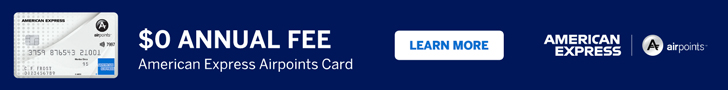 American Express Airpoints Card banner
