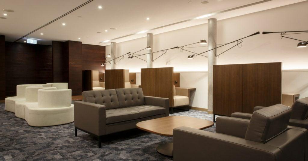 American Express Melbourne Lounge buffett montage